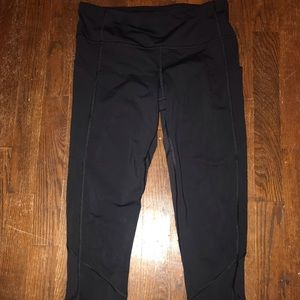 Black lulu lemon mesh leggings